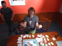 "Minutes after my first New Zealand Monopoly win. Needless to say, I was ""pretty pump bout' dat' "" [P] Devon Kershaw"