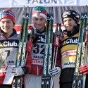 15km men handicap start podium (l-r): Finn Hagen Kroch (NOR), Petter Northug (NOR), Dario Cologna (SUI) [P] Nordic Focus