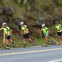 Some more rollerski action - thanks ONEWAY for the hook ups with swag before we came down here! [P] courtesy of Devon Kershaw