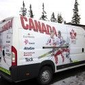 Canada's team van [P] Holly Brooks