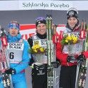Devon Kershaw (middle) on the podium in Szklarska Poreba [P] courtesy of CCC