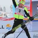 Devon Kershaw (CAN) jumps for joy...  [P] Nordic Focus