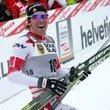 Devon Kershaw celebrates historic gold at the finish... [P] Nordic Focus