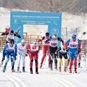 Men's relay race action [P] NordicFocus