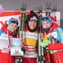 (l-r) Korosteleva 2nd, Kowalczyk 1st and Dotsenko 3rd [P] Nordic Focus