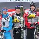 Final podium (l-r): Morilov 2nd, Kershaw 1st, Hattestad 3rd. [P] Nordic Focus