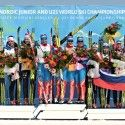 Women's relay podium at FIS Junior World XC Ski Championships in Erzurum [P] Nordic Focus