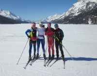 Some US girls in the Engadin Valley! Me, Nicole Deyong, Caitlin Gregg & Evelyn Dong [P] Holly Brooks