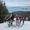 "Holly Brooks and friends showing this is an ""Only In Alaska"" moment. [P] courtesy of Holly Brooks"