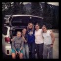 Our small AK Adventure contingent (l-r) Kikkan, Liz, Chandra, Corey, Heidi [P] courtesy of Kikkan Randall