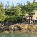 One of the more cool ocean side cabins on Peterson Bay [P] courtesy of Kikkan Randall