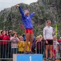 Johaug and Stephen on the podium... [P] courtesy of Kikkan Randall