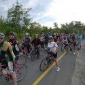 I was too busy loving the vibe and being inspired by the hundreds of passionate cyclists that believe Sudbury can change and be a more bicycling friendly place to live. Thanks to everyone that made the 4th Share the Road Sudbury a success. Check out www.sharetheroad.ca to see what we're all  about or to get involved [P] courtesy of Devon Kershaw