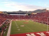 One night a bunch of us went to a University of Utah college football game against the football powerhouse - USC. It was so much fun - America IS football. Boom. Loved it. [P] The Nish
