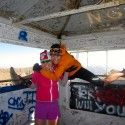 With my old training partner, Katie, at the summit [P] Holly Brooks