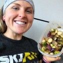 Yes, I am eating healthy, even in the Denver Airport. And yes, those are brussel sprouts in a Tupperware.  [P] Holly Brooks