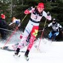 Alysson Marshall (bib 3) escapes a crash during the semi-final rounds. [P] John Sims