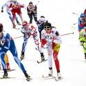 Aurore Jean (FRA) in lead [P] Nordic Focus