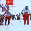 Kowalczyk heroically caught and passed Norway's Johaug