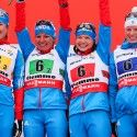 Final podium (l-r) Guschina, Iksanova, Ivanova and Tchekaleva in 3rd [P] Nordic Focus