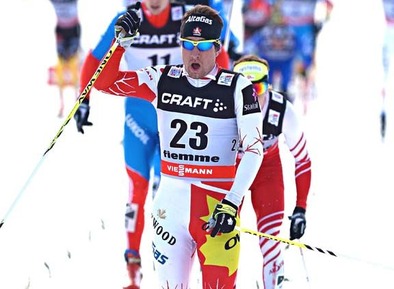 Ivan Babikov was the top NA skier overall and came second on the TdS Stage 7 up Cermis [P] Nordic Focus