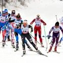 Diggins at the front of her group... [P] Nordic Focus