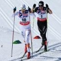 Olsson and Cologna's initial escape... [P] Nordic Focus