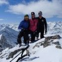 A beauty of a view - great friends, great mountain adventures - Brent, Heidi and myself on the top of a Mt. James Walker a couple days ago. [P] Devon Kershaw