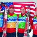 Team USA ruled at the Games (l-r): Billy Demong, Johnny Spillane, Todd Lodwick,  Brett Cramerota [P] Heinz Ruckemann