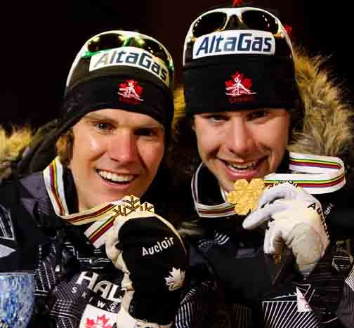 Devon Kershaw (l) and Alex Harvey win Team Sprint gold in Oslo, Norway [P] Nordic Focus