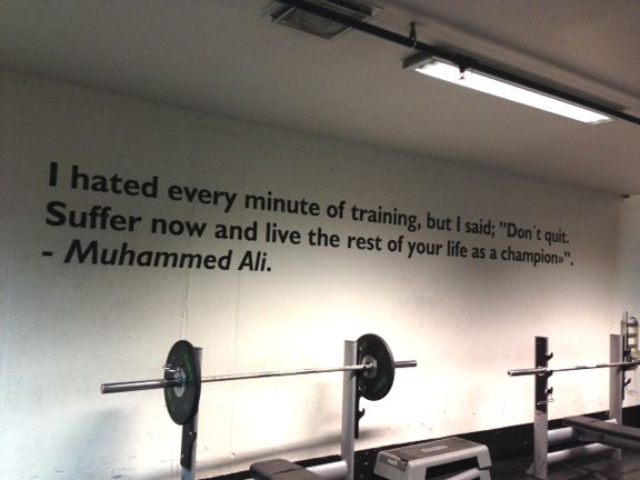 Love the quotes they have on the walls at the Olympic athletic center [P] courtesy of Kikkan Randall