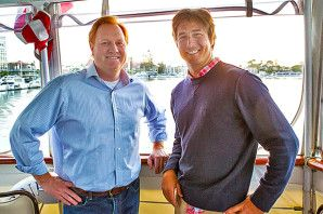 USSA Chief Marketing Officer Mike Jaquet with Olympic champion Jonny Moseley [P] Mark Epstein