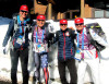 Skiathlon US girls (l-r) Bjornsen, Brooks, Stephen, Diggins [P] Torin Koos
