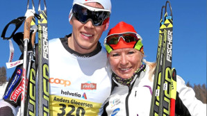 Gloeersen (l-r) and Roponen [P] Swiss Ski