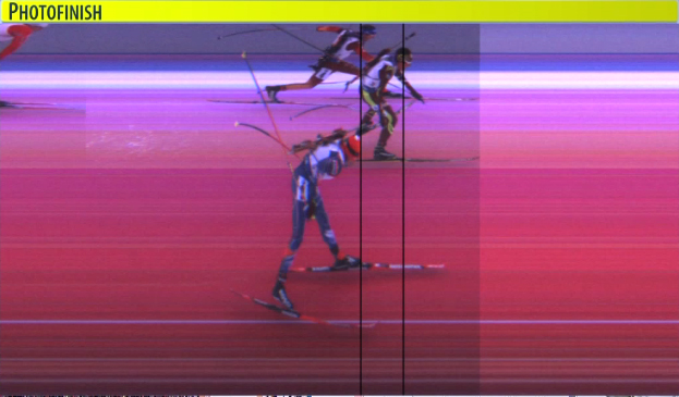 Photofinish...Schempp out-lunges Maillet for the win and Slesingr is 3rd [P]