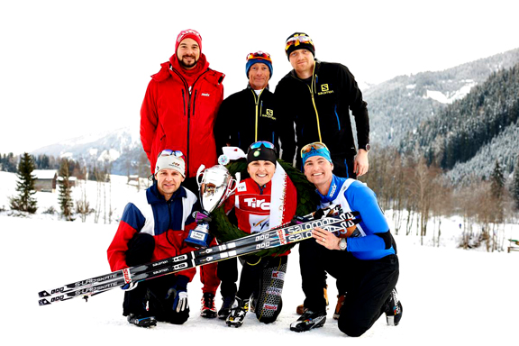 Holly Brooks (USA) and her team [P] Worldloppet