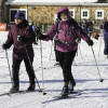Cross-country skiers heading out to join the fun [P]Matt Trueheart.