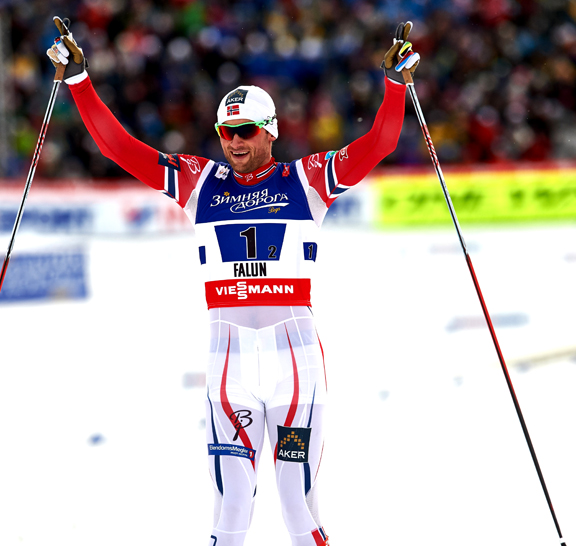 Petter Northug (NOR) at the finish [P] Nordic Focus