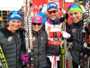 Team USA (l-r) Diggins, Stephen, Bjornsen, Brennan [P]