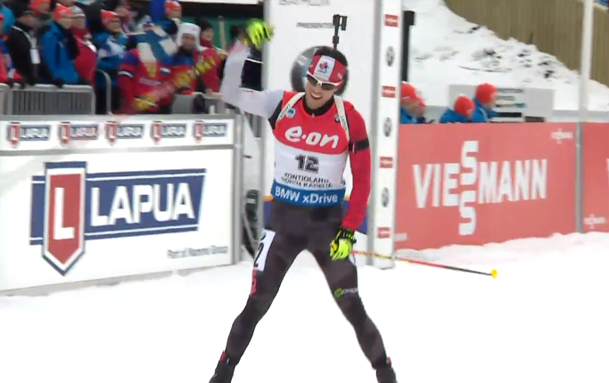 Canada's Nathan Smith crosses the line taking home historic silver [P]