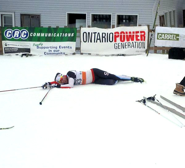 An exhausted Michael Somppi at the finish [P] CCC