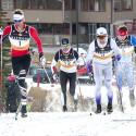 Len Valjas, number one, of Canmore stays ahead of the pack to win the final heat of the Frozen Thunder Classic sprint [P] Pam Doyle