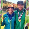 Nita Englund and Mike Glasder celebrate their titles. [P] USSA-Peter Tilton