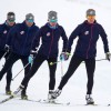 The U.S. Cross Country Ski Team skis in New Zealand wearing L.L.Bean outerwear in the national commercial. [P] L.L.Bean (2)