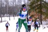 Corey Stock (3) leads her quarterfinal heat up Hero Hill during the Bates Carnival. [P] Matthew Doyle