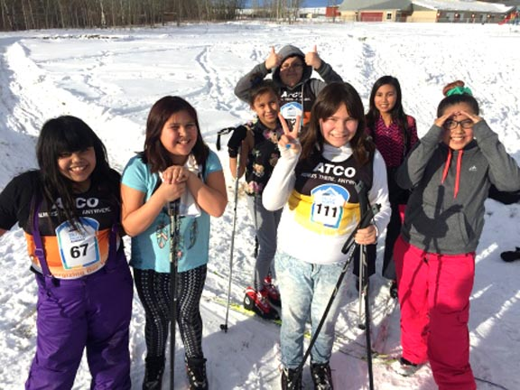 Tsuut'ina First Nation High School were given to a chance to cross country ski, some for the first time [P] Evelyne Asselin/CBC