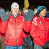 Canadian team members Scott Gow and Nathan Smith stand at the front of their team during the opening ceremonies of the IBU World Cup [P] Pam Doyle