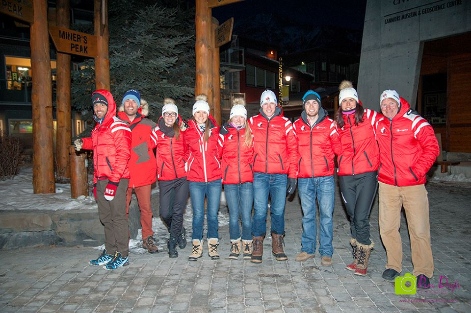 Team Canada at the Canmore Biathlon opening ceremonies [P] Pam Doyle