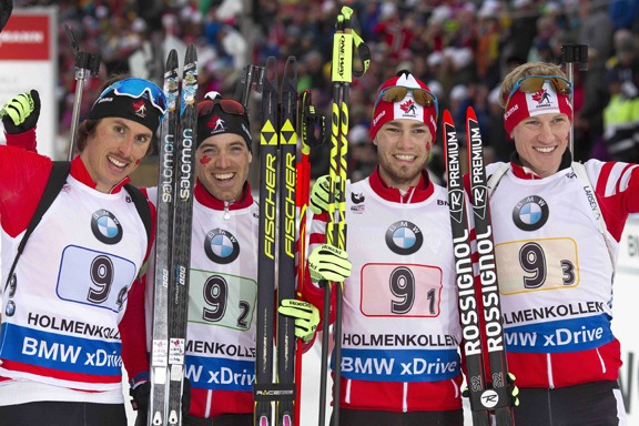 Team Canada (l-r) Brendan Green, Nathan Smith, Christian Gow, Scott Gow [P] Tumashov/Nordic Focus
