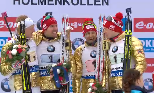 Team Norway wins gold [P]